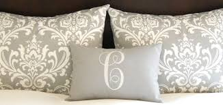 standard pillow shams bed shams throw pillow covers gray