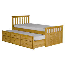 Wooden Folding Bed All Home Pajama Guest Bed With Trundle Reviews Wayfair Co Uk