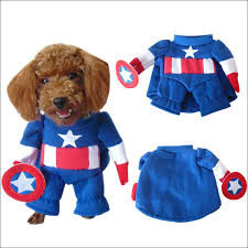 Captain America Halloween Costumes Buy Dog Costumes Halloween Captain America Dog Costume