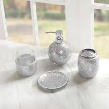 Crackle Glass Bathroom Accessories by Multi Color Bath Accessory Sets Ebay