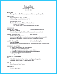 culinary resume templates awesome excellent culinary resume sles to help you approved