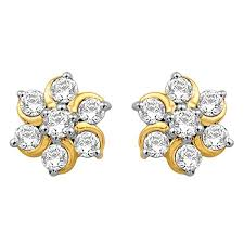 real diamond earrings diamond earrings 0 44ct real diamonds vvs gh 3 5gm 18k gold