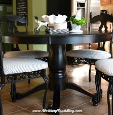 Pedestal Tables And Chairs Transform Kitchen Chairs With Spray Paint And A Little Fabric