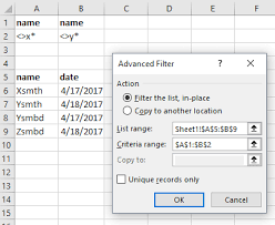 excel advanced filter u2013 how to create and use
