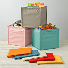 Ikea Storage Bins by Kids Canvas Cube Storage Bin The Land Of Nod