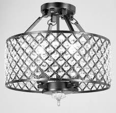new legend lighting 4 light crystal semi flush mount chandelier
