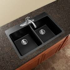 granite countertop sink options kitchen black modern double square bowl overmount kitchen sink deals