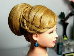 Fancy Updo Hairstyles For Long Hair by Elegant Hairstyle For Medium Long Hair Bun Updo Youtube