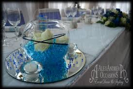 fish bowl centerpieces table centrepiece hire for weddings events in london