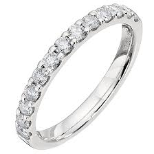 half eternity ring 9ct white gold half carat diamond eternity ring h samuel