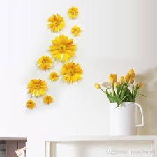Flower Wall Decor 3d Stereo Daisy Flowers Wall Decor Living Room Bedroom Art Mural
