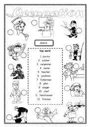 occupation worksheet by saifonduan
