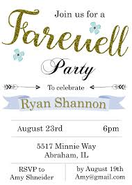 going away party invitations new selections fall 2017