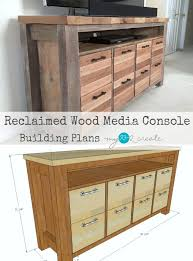 media consoles furniture reclaimed wood media console my love 2 create