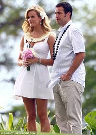 aniston wedding dress in just go with it is aniston intimidated by decker on just go with