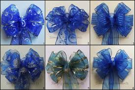 silver and royal blue wedding royal blue wedding decor blue silver wreath bow winter