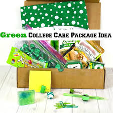 College Care Package Green College Care Package Idea Organized 31