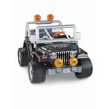 jeep toy power wheels black tough talkin u0027 jeep 12 volt battery powered ride