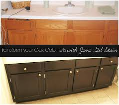 Stain Unfinished Kitchen Cabinets Espresso Stained Oak Cabinets Deductour Com