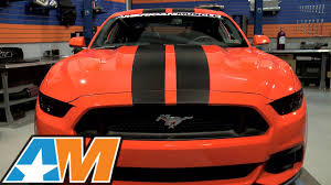 Black And Orange Mustang 2015 2017 Mustang Mmd V Series Stripes Review U0026 Install Youtube