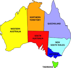 Map Of Countries Map Of Countries In Australia All World Maps