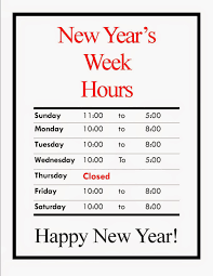 cato s army navy new year s week hours