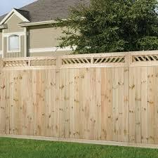 1 ft x 6 ft decorative lattice wood fence panel top kit fence