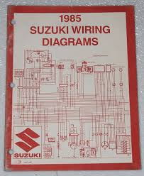 1985 suzuki motorcycle and atv electrical wiring diagrams manual