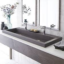 native trails trough sink handcrafted rectangular bath sink in slate amazon com