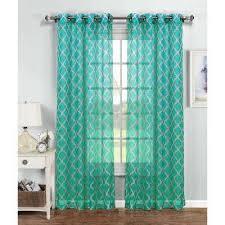 Green Grommet Curtains Green Grommet Sheer Curtains U0026 Drapes Window Treatments