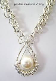 ring pendants necklace images Multiple jump rings wire work pearl pendant tutorial the beading JPG