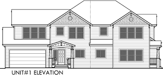 home plan with elevation view