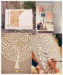 ã e de mariage mariage rustique chêtre livre d or en bois arbre en bois pot de