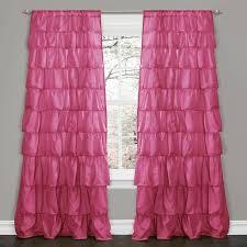 Decor Pink 84 inch Ruffle Curtain Panel