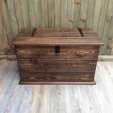 Solid Pine Ottoman Handmade Solid Pine Storage Trunk Chest Rustic Farmhouse Box