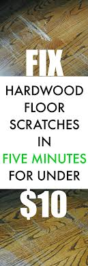 fix scratched hardwood floors in about five minutes the