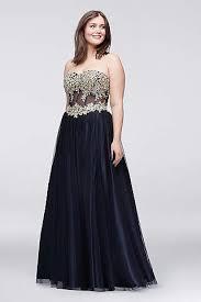 plus size prom dresses u0026 gowns for 2017 david u0027s bridal fashion