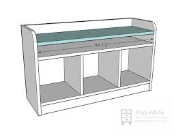Plans To Build A Storage Bench by Ana White Perfect Cubby Bench Diy Projects