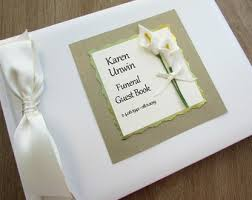 funeral guest books funeral guest book personalised book of condolence signing