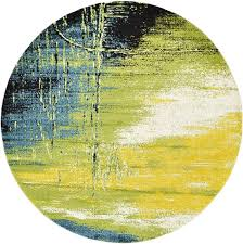 Yellow Round Area Rugs Light Green 245cm X 245cm Florence Round Rug Area Rugs Au Rugs