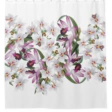 Orchid Shower Curtain Best Vintage Floral Shower Curtain Products On Wanelo