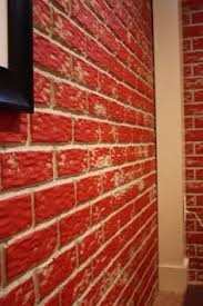 how to paint your concrete basement walls to look like aged brick