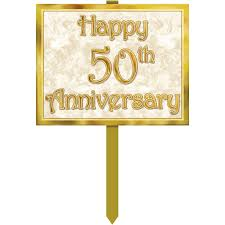 amazon com 50th anniversary yard sign party accessory 1 count