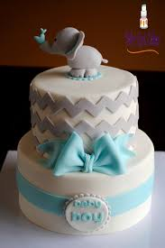 elephant baby boy shower two tier cakecentral com