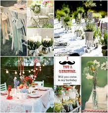 village garden theme fantastic 18th birthday party ideas party