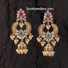heavy diamond earrings 74 best gold jhumkas images on indian jewelry