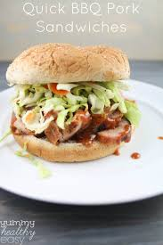 quick bbq pork sandwiches with homemade sauce u0026 slaw yummy