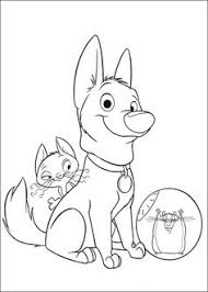 bolt disney coloring free download