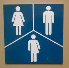 new unisex bathrooms sign note management not responsible for