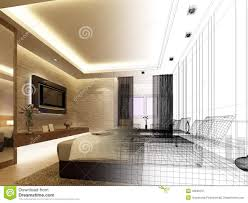 Interior Design Free by Sketch Design Of Interior Bedroom Royalty Free Stock Photography